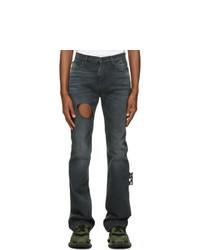 Off-White Grey Slim Stacked Joseph Jeans