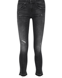 R13 Alison Distressed Low Rise Skinny Jeans