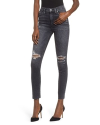 Hudson Jeans Barbara Distressed High Waist Ankle Skinny Jeans