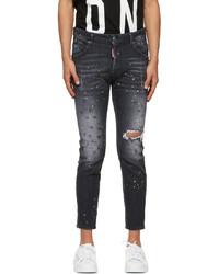 DSQUARED2 Black Paint Skater Jeans