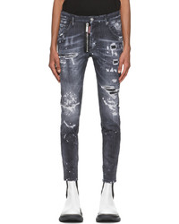 DSQUARED2 Black Ripped Wash Twinky Jeans