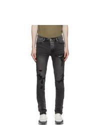 Ksubi Black Trashed Van Winkle Angst Jeans