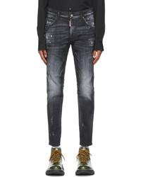 DSQUARED2 Black Wash Skater Jeans