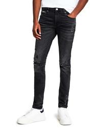 River Island Carver Rip Skinny Jeans
