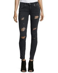 Casey low rise super skinny jeans smoke stack destroyed medium 815865
