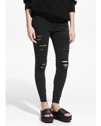 Mango Outlet Cropped Skinny Isa Jeans