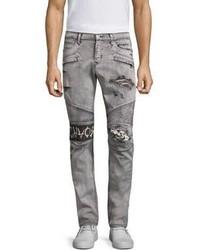 Hudson Distressed Skinny Biker Jeans