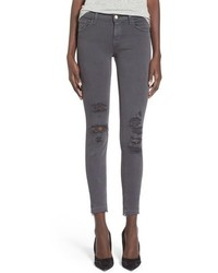 J Brand Destroyed Crop Skinny Jeans Size 28 Metallic