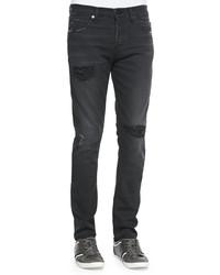 J Brand Jeans Mick Destroyed Skinny Fit Jeans