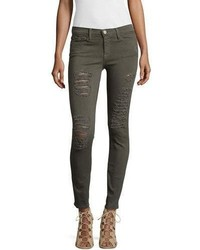 Frame Le Color Rip Skinny Distressed Jeans