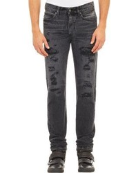 Levi's Made Crafted Distressed Needle Fit Jeans Black
