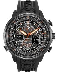 Citizen Eco Drive Navihawk A T Analog Digital Atomic Chronograph Watch Jy8035 04e