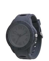 Geneva Watch Group Mossimo Black Rubber Strap Watch Gray