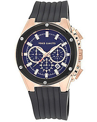 Vince Camuto Grey Silicone Strap Multifunction Watch