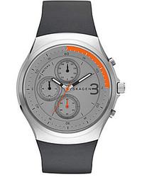 Skagen Jannik Titanium Silicone Chronograph Watch