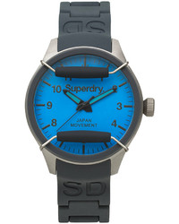 Superdry Scuba Pop Gray Silicone Strap Watch 44mm Iww D10310120