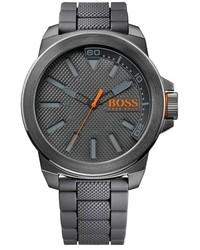 Boss Orange Textured Silicone Strap Watch 50mm