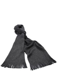 Hugo Boss Basic Albas Scarf Charcoal One Size