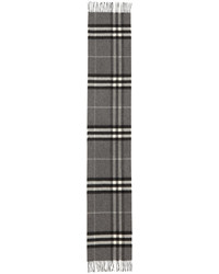 Burberry Cashmere Giant Icon Scarf Gray
