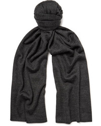 Isaia Cashmere And Silk Blend Scarf