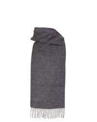 Dents Plain Lambswool Scarf Oxford Grey