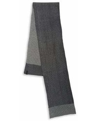 Calvin Klein Fringe Gauge Pleated Scarf