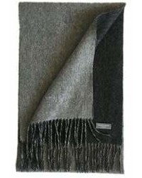 James Cavolini Italy Cashmere Wool Double Sided Grey Charcoal Scarf