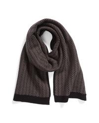 BOSS Melias Textured Wool Blend Scarf