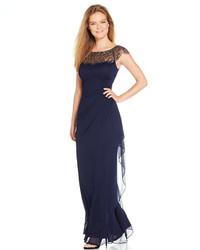 b991b1265 Xscape Evenings Xscape Petite Cap Sleeve Illusion Beaded Gown, $209 ...