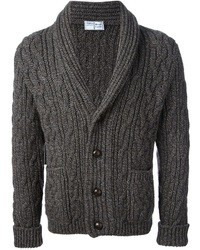 Charcoal Shawl Cardigan