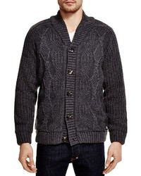American Stitch Elbow Patch Cable Cardigan