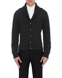 Thom Browne Cable Knit Cardigan Dark Grey Size Na