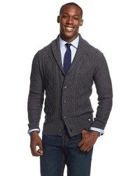 Dickies Cable Shawl Collar Button Cardigan