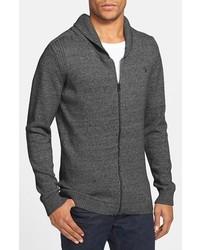 Diesel K Chiccan Shawl Collar Zip Sweater Dark Heather Grey Large
