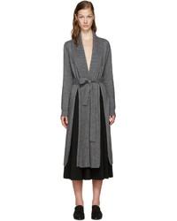 Rosetta Getty Grey Cashmere Shawl Cardigan