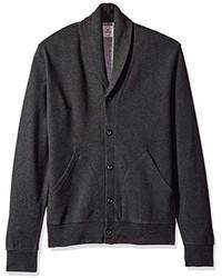 Long sleeve shawl collar button front cardigan medium 3665837