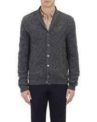 Zanone Shawl Collar Cardigan Grey Size S