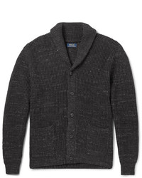 Polo Ralph Lauren Shawl Collar Mlange Ribbed Cotton Cardigan