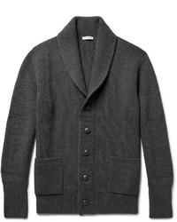 Shawl collar ribbed wool cardigan medium 5171796