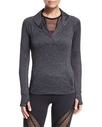 Beyond Yoga Featherweight For It Pullover Black Steel