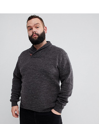 French Connection Plus Lamb Shawl Collar Jumper