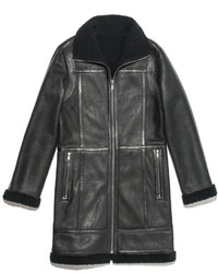 Charcoal Shearling Coat
