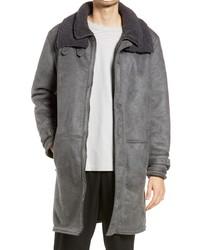 Topman Longline Faux Shearling Jacket