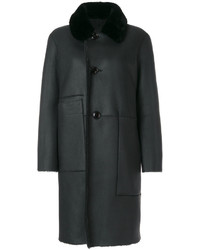 Reversible shearling coat medium 4985525