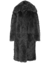 Shearling coat dark gray medium 4393602