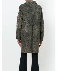 Textured single breasted coat medium 7942407