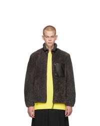 Loewe Grey And Black Shearling Jacket