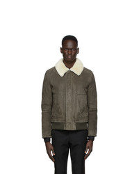 Yves Salomon Grey Shearling Nardo Jacket