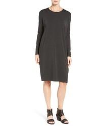 Eileen Fisher Stretch Tencel Jersey Shift Dress