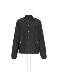 Rick Owens Buttoned Silk Cotton Blend Jacket